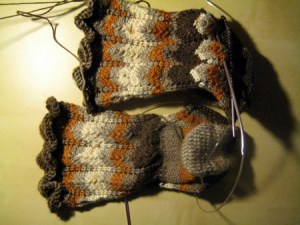 I liked the top pattern so much I started another pair....