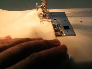 Sew at the original seam line indicated by the pattern.