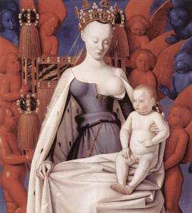 Madonna and Child, Jean Fouquet, c. 1452-5