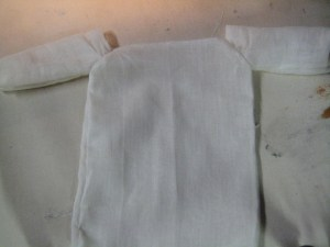 sleeves and body joined