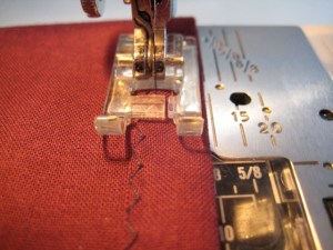 sewing the drawstring casing