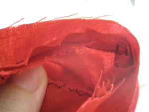 The inside of the waist seam