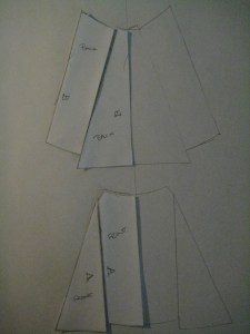 An alternative arrangement of the back panels