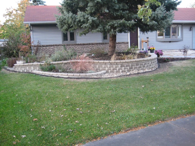 side view of front wall