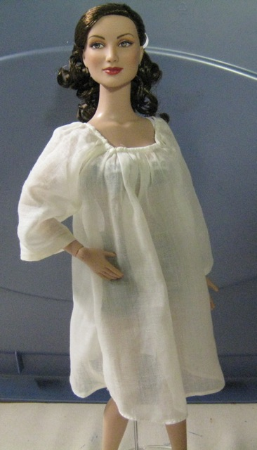 Square necked chemise on doll