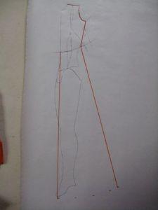 edges and hem marks for skirt