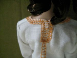 the neckline, from the back