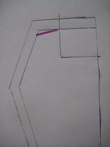 angled shoulder line