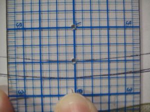 squaring a ruler to a curve