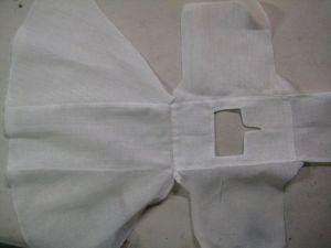 chemise, ironed.
