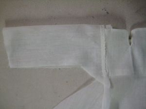 chemise folded at center of sleeve