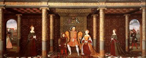 painting of the family of Henry VII