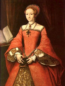 portrait of the young Elizabeth
