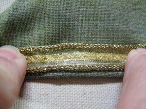 ribbon over dress sleeve