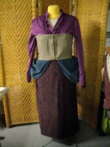 bodice and bustle mostly finished.