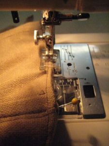 corset in sewing machine