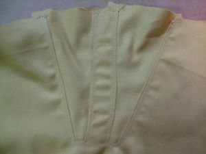 finished gusset from inside