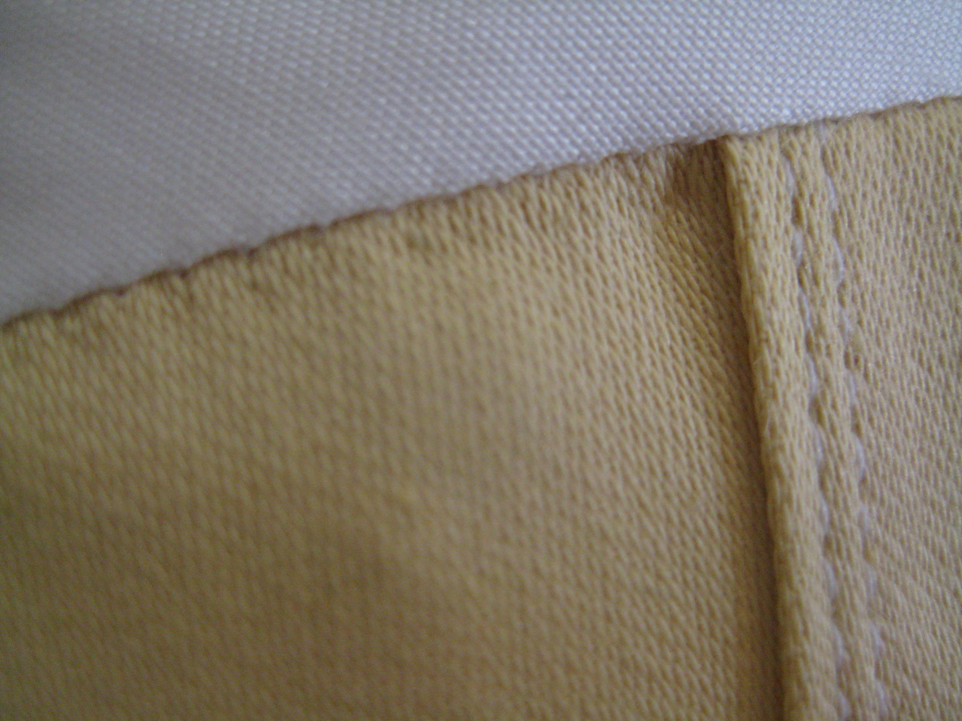 hem from right side of fabric