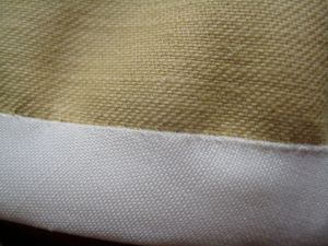 stitches from wrong side of fabric