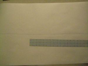 Starting line on paper