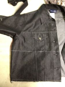 jacket marked for cropping