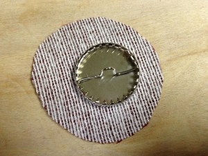 button base on fabric