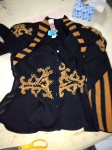 80's jacket, ready for mutilation