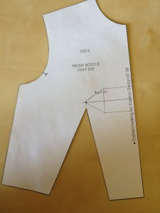 Cut out your sloper, including the dart legs.