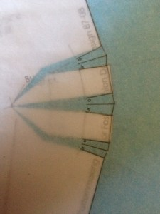 What I showed you in class is the X -> O marking.  X always folds over O.  This may be helpful to you when you're sewing.