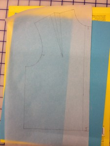 Fold your tracing paper on the front edge.