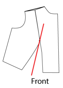 Draw a guide line from the Bust Point to the middle of the proto-dart area. Measure to make sure the gap is the same at the waist on both sides.