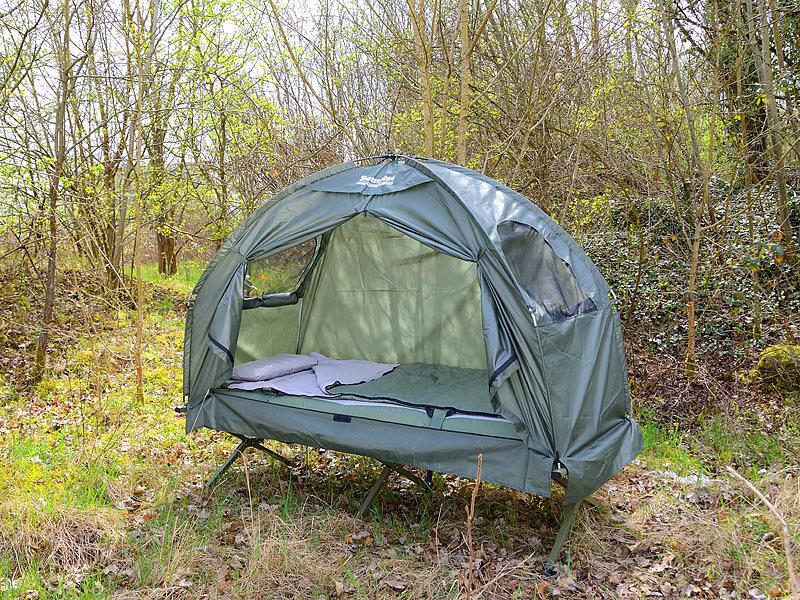 Semptec Urban Survival Technology 4in1Zelt inklusive Schlafsack Matratze  Campingliege