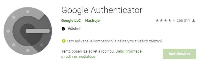 Google Authenticator - šikovný pomocník s dvoufázovým ověřením