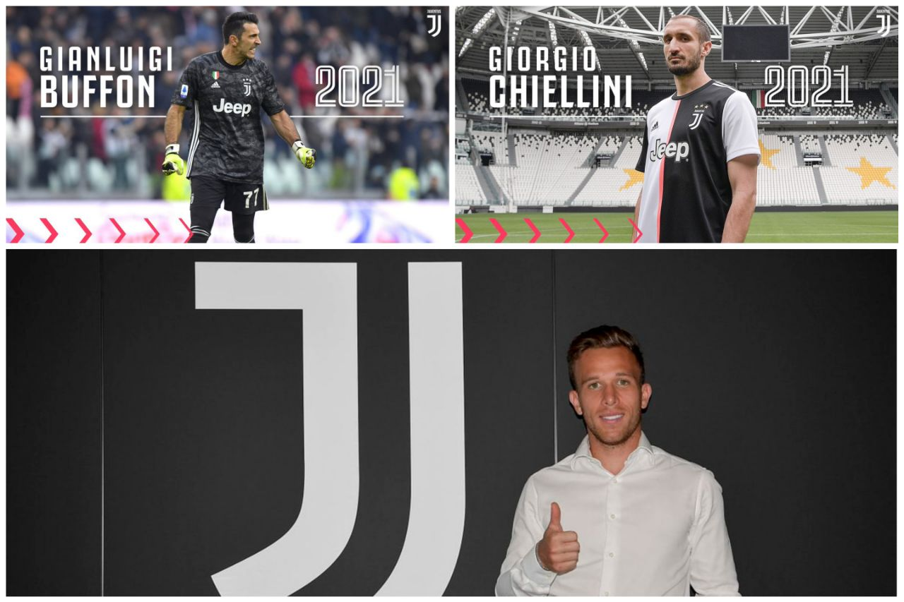 Juventus Buffon Chiellini Arthur