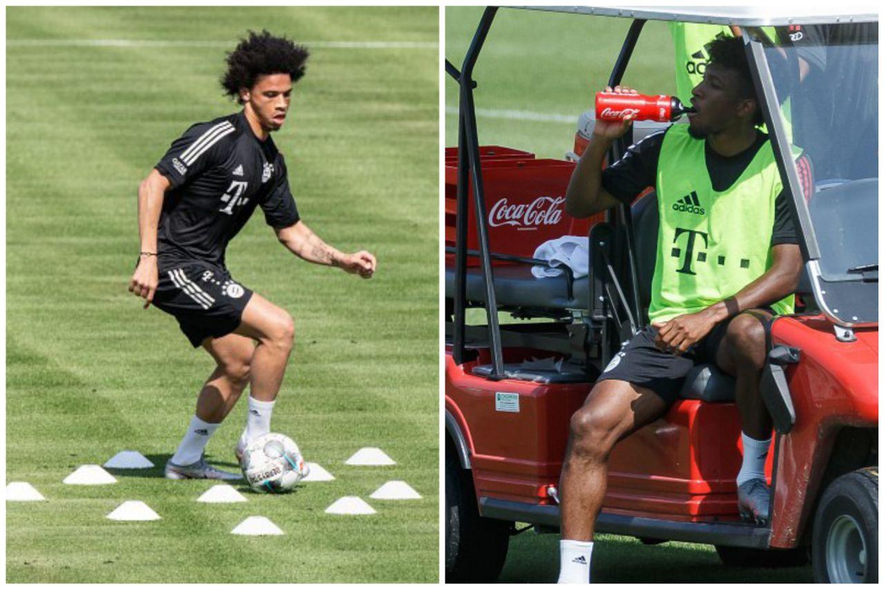 Leroy Sane Kingsley Coman Bayern Munich