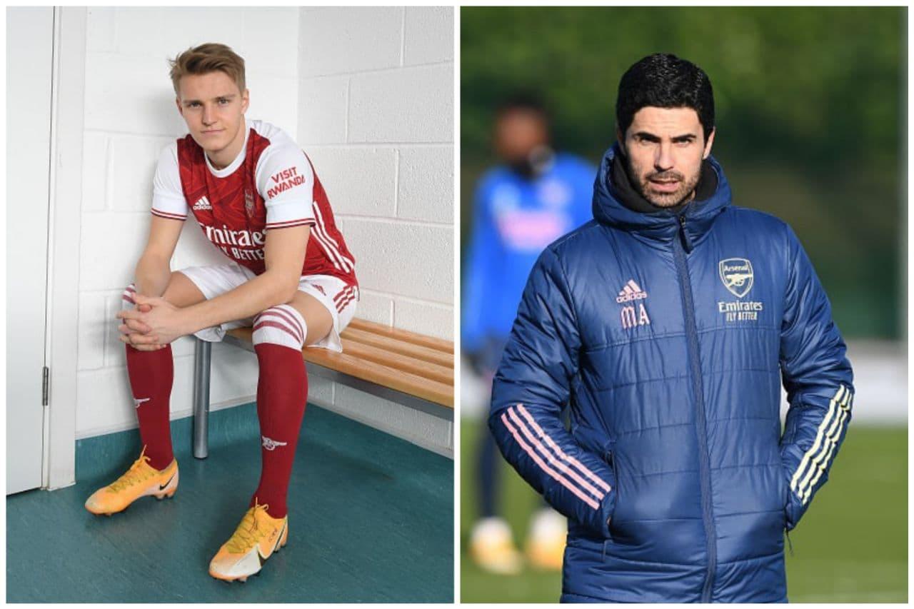 Mikel Arteta Martin Odegaard Arsenal