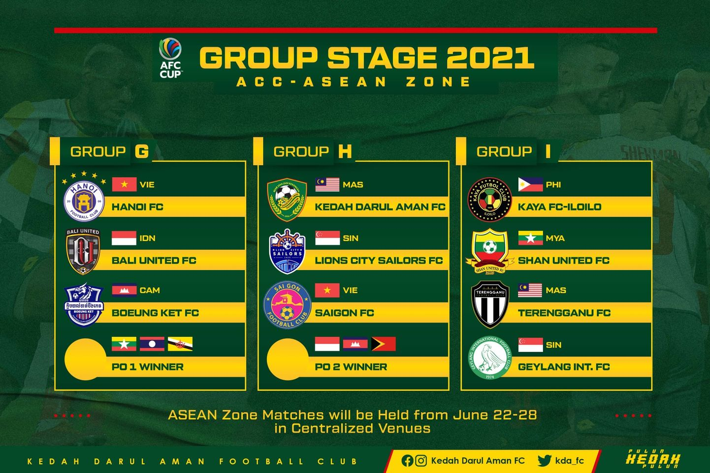 Piala AFC 2021 Kedah Terengganu