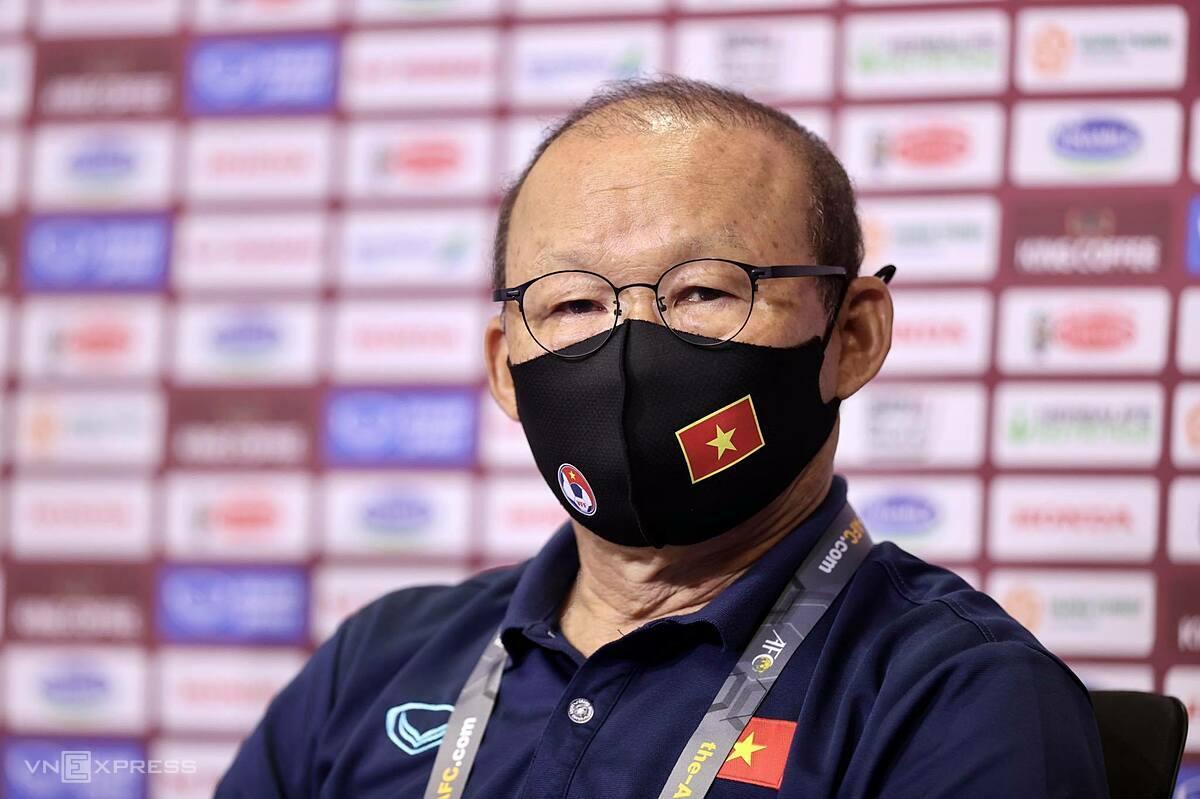 Park Hang-seo sidang media Vietnam Indonesia 2021 Shin Tae-yong