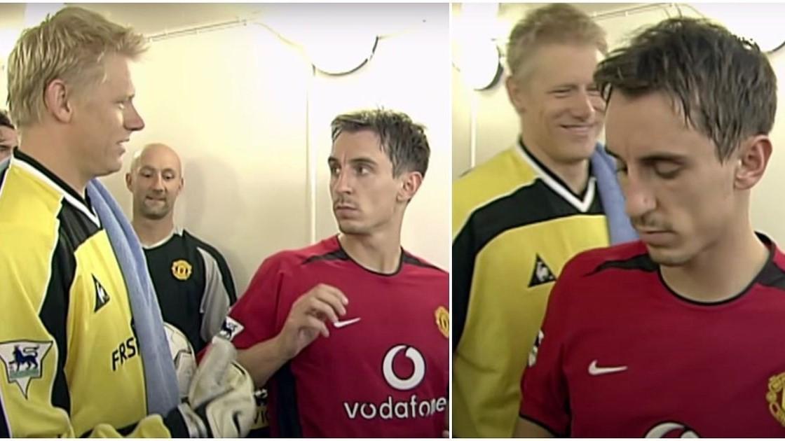 Gary Neville Peter Schmeichel Manchester United City