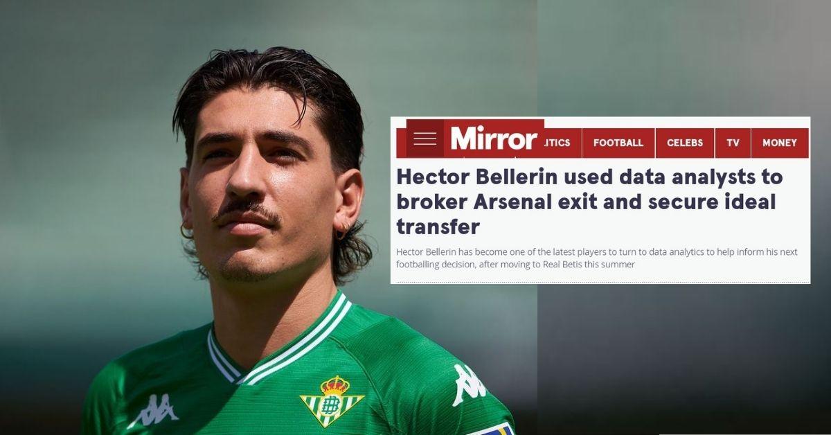 Hector Bellerin Arsenal Real Betis 2021 analisis data