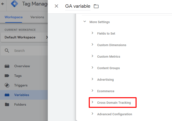 Cross-domain-tracking in google tag manager
