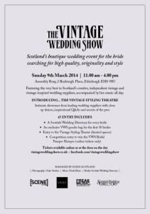 Vintage Wedding Show
