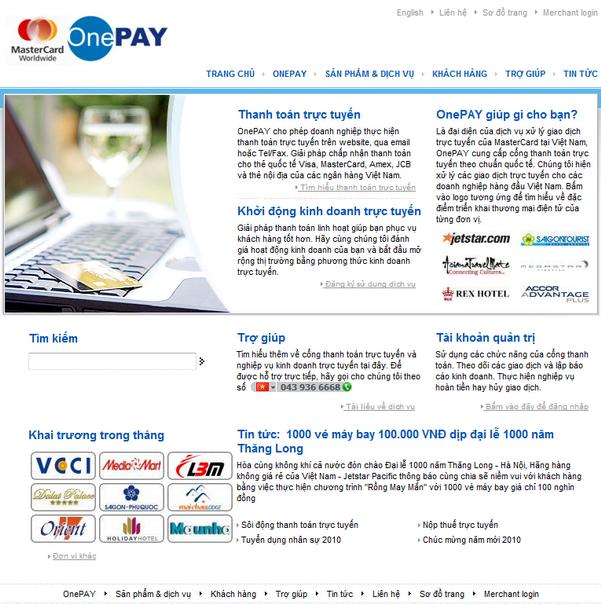 onepay 5 cổng thanh toán trực tuyến tại việt nam nên dùng