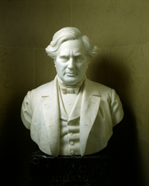 Bust of Millard Fillmore as Vice President, by Robert Cushing. Fillmore served 17 months as Vice President and President of the Senate. Photo from the U.S. Senate
