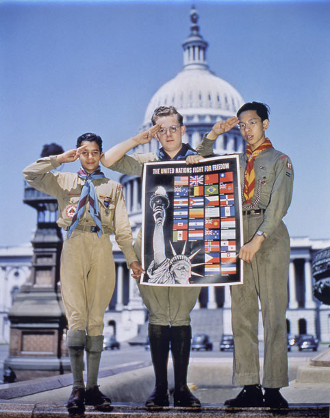 Boy Scouts at the Capitol, 1943? - Library of Congress image