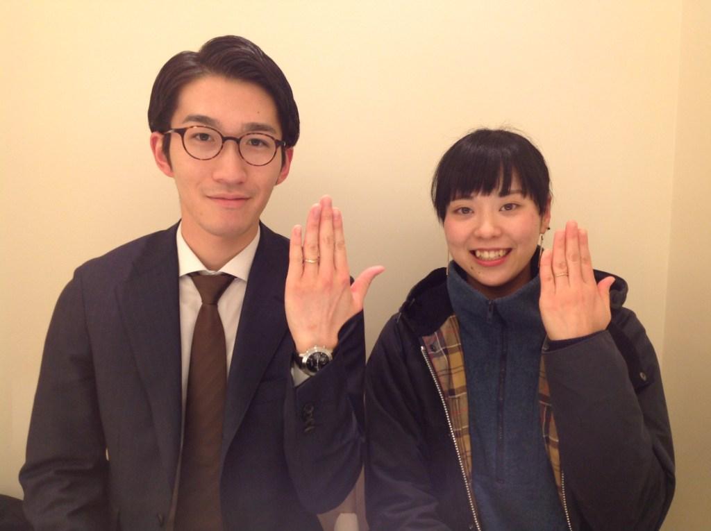 結婚指輪,婚約指輪,ピンクゴールド,仙台