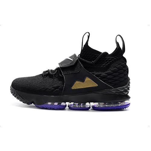 Lebron-15-diamond-turf-black-purple-single-leg