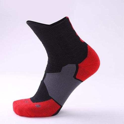 Chaussettes-noir-rouge