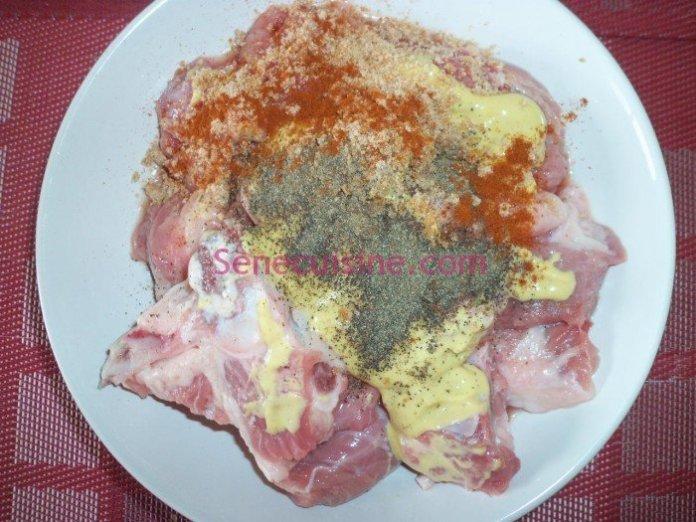Préparation thiebou yapp vermicelles 4