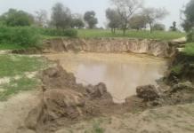 IMAGES: Phénomène effrayant à Bambey, la terre a bougé creusant un cratère jusque-là non expliqué